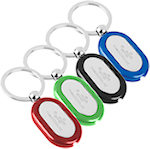 Oblong Metal Light Key Tags